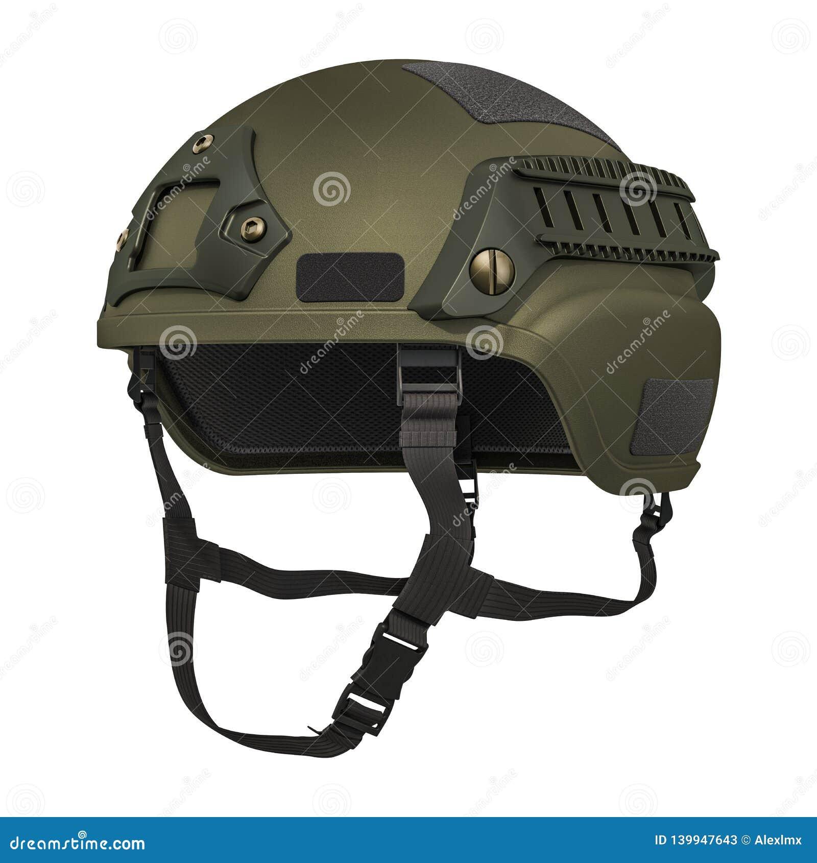 Military Helmet, 3D Rendering Stock Illustration - Illustration of