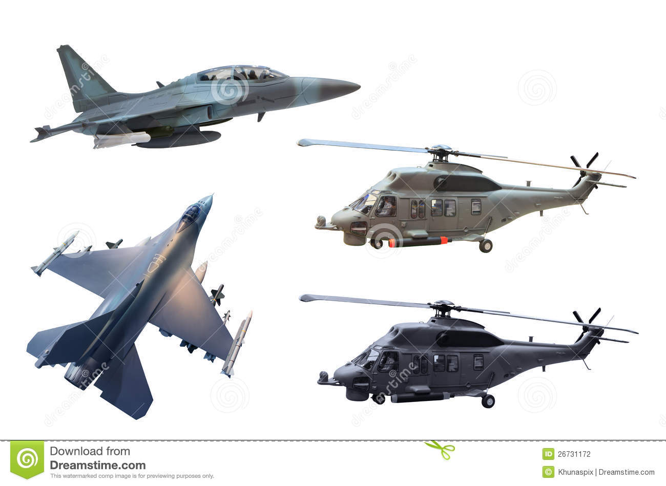 Military Jet Plane And Helicopter Stock Photography - Image: 26731172