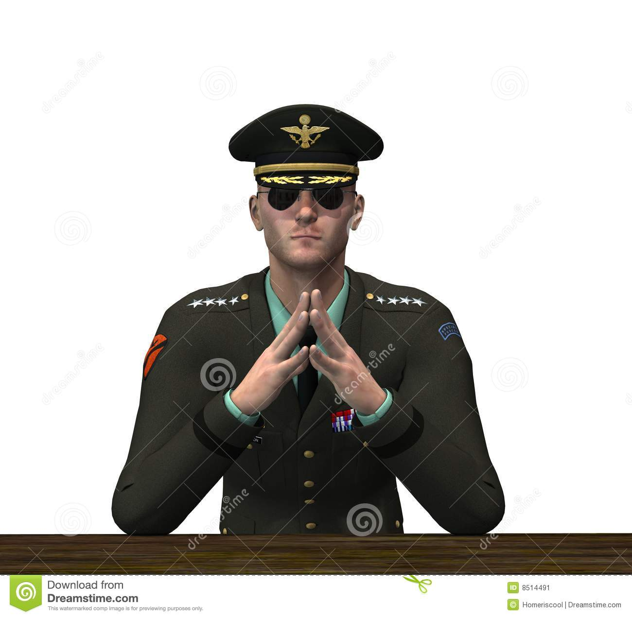 Military Officer - Pondering Stock Image - Image: 8514491
