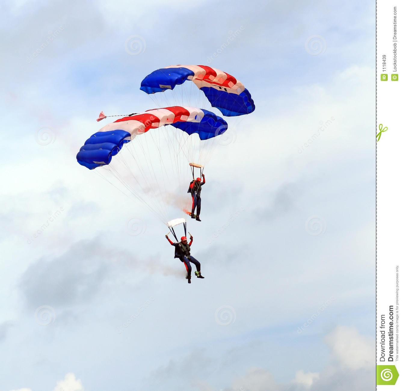The Red Lions Sky Diving During National Day Parade (NDP