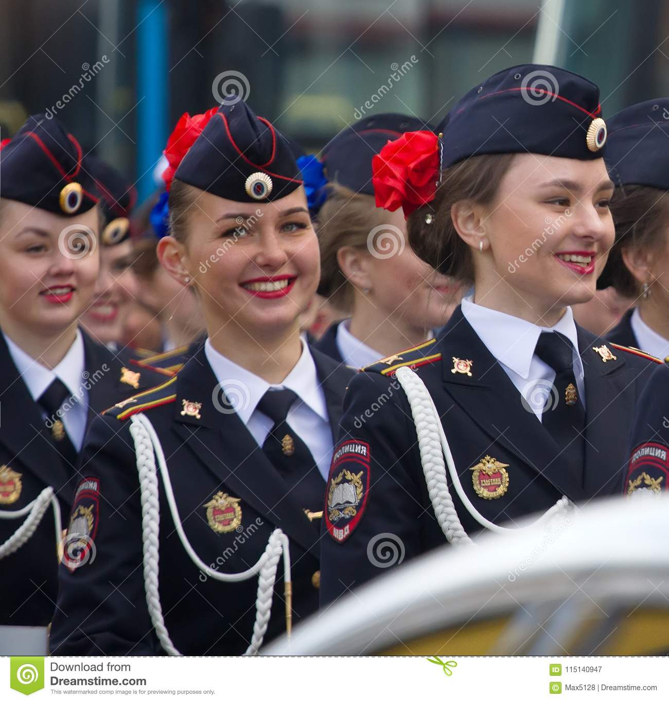 32a8b00048c58 Military parade russian girls. Dress uniform of Ministry of internal  Affairs (Home Department)