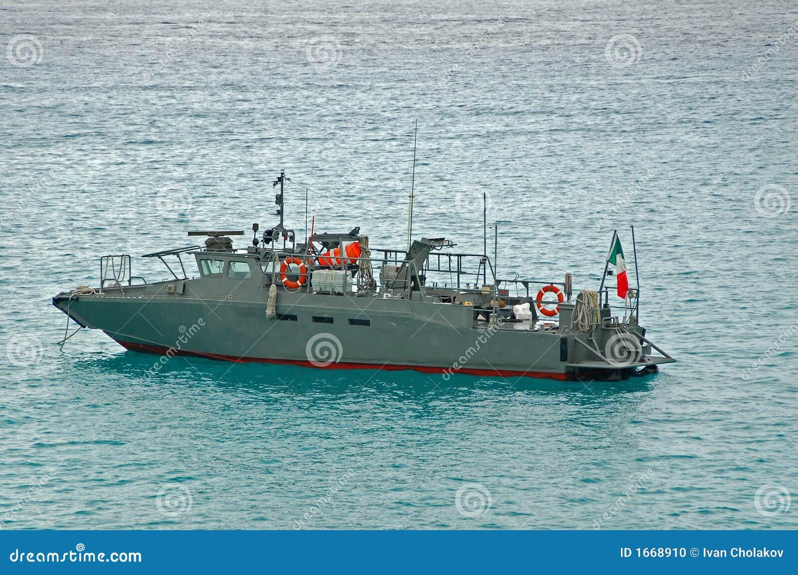 Military Patrol Boat In Gray Color Stock Photo Image