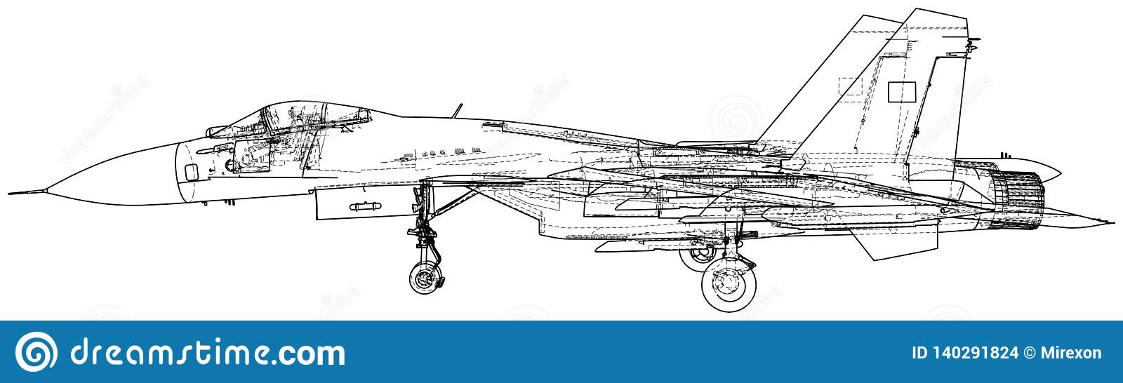 Wondrous Military Plane Fighter Jet Vector Illustration Created Wiring Digital Resources Funapmognl