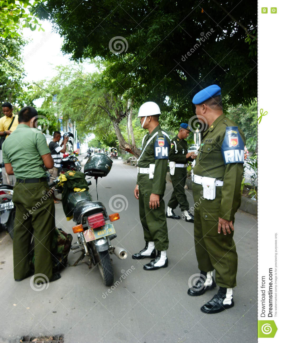 Caught by the military police