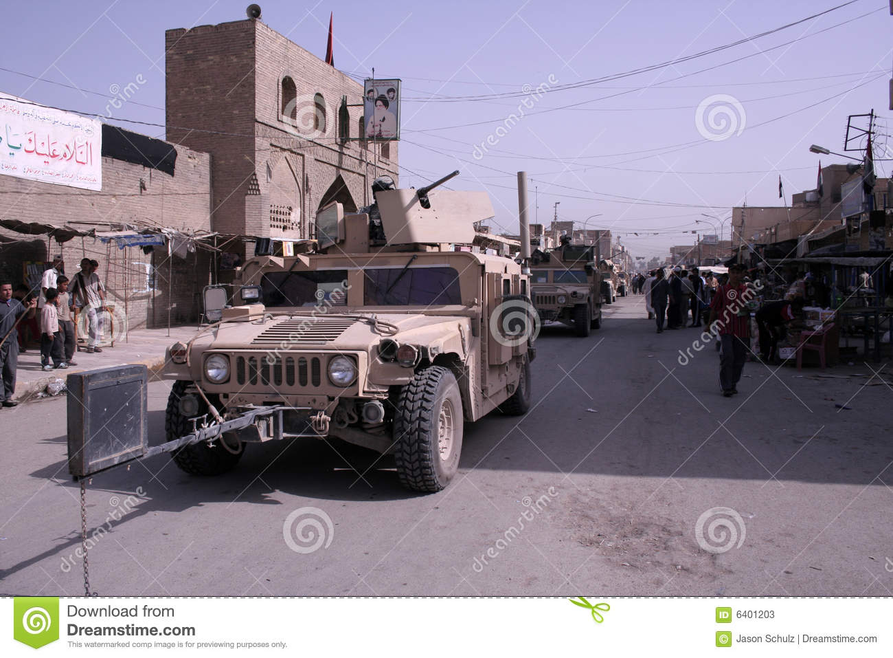 Military Police Patrol in Iraq