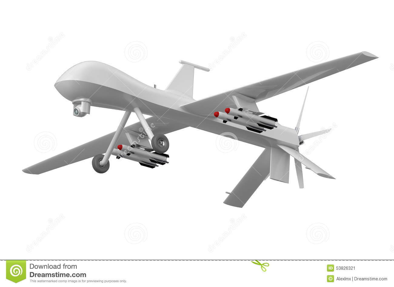 Military Predator Drone Stock Illustration Image Of Security