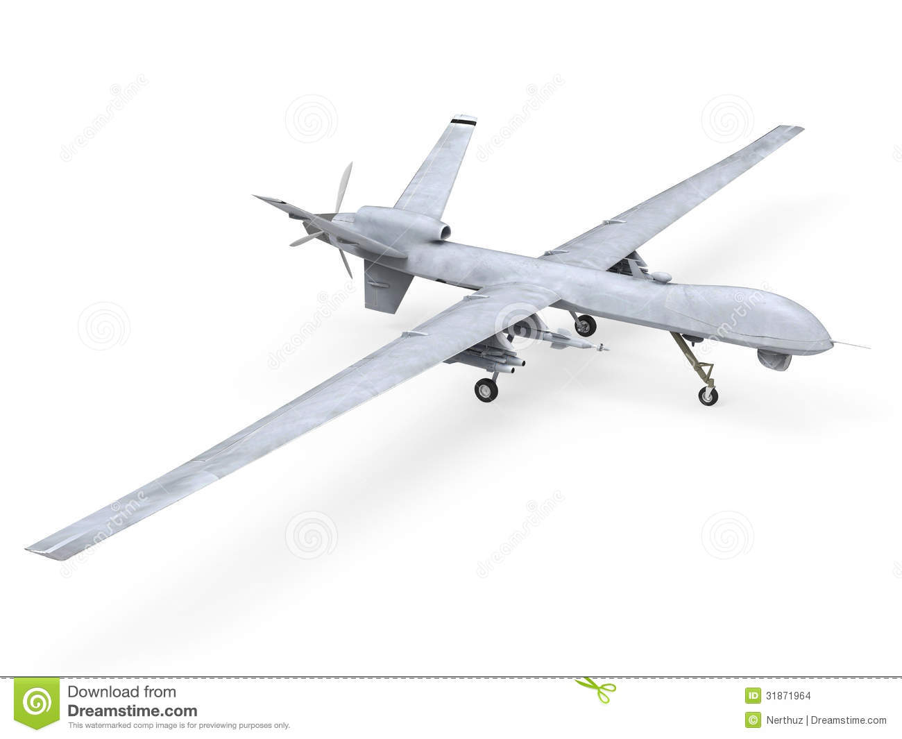 Military Predator Drone Stock Illustration Image Of Modern