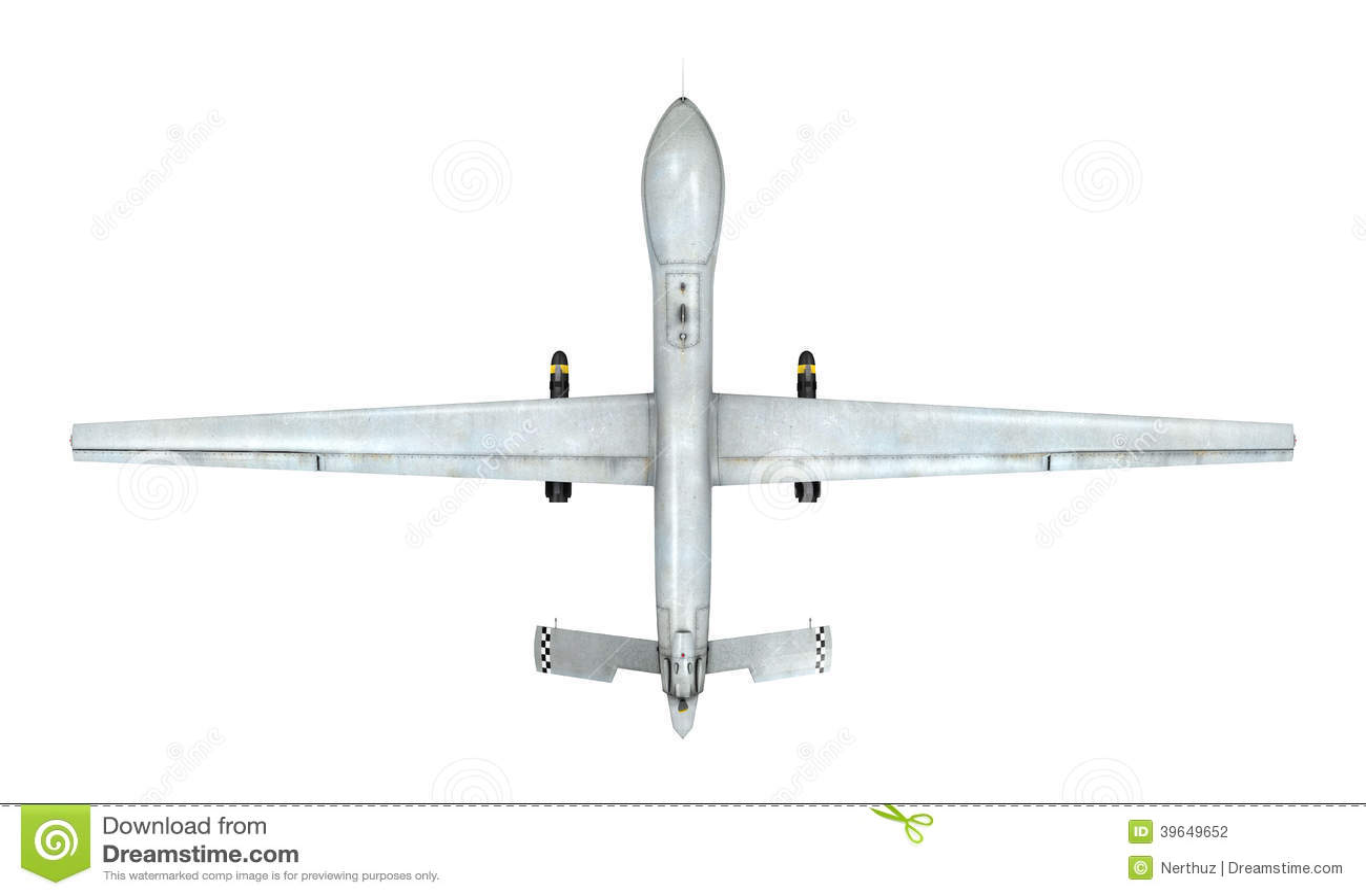 military predator drone stock illustration image 39649652