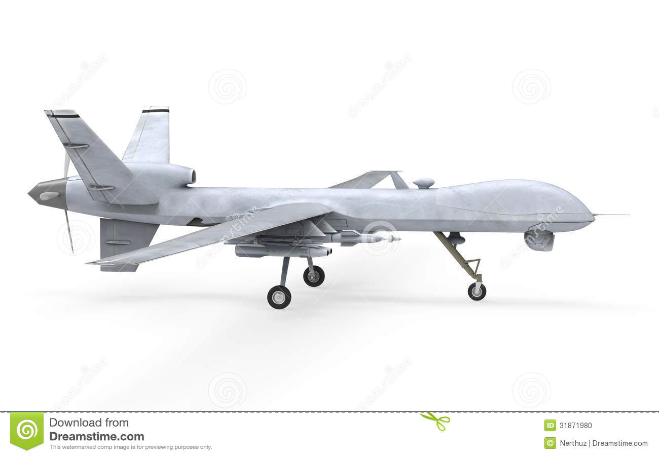 Military Predator Drone Stock Illustration Image Of Combat