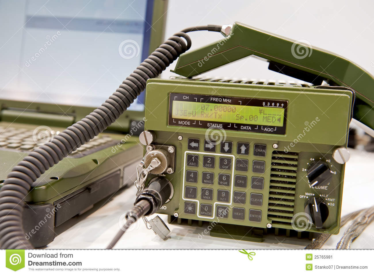 Military Radio Station Stock Image Image 25765981