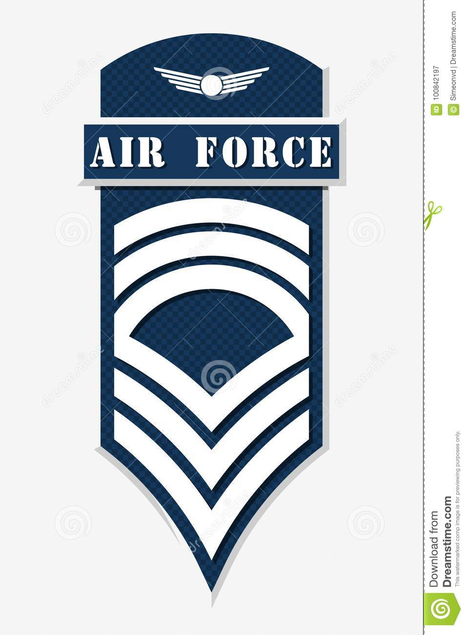 Air Force Master Sergeant Stripe Clipart Free Download