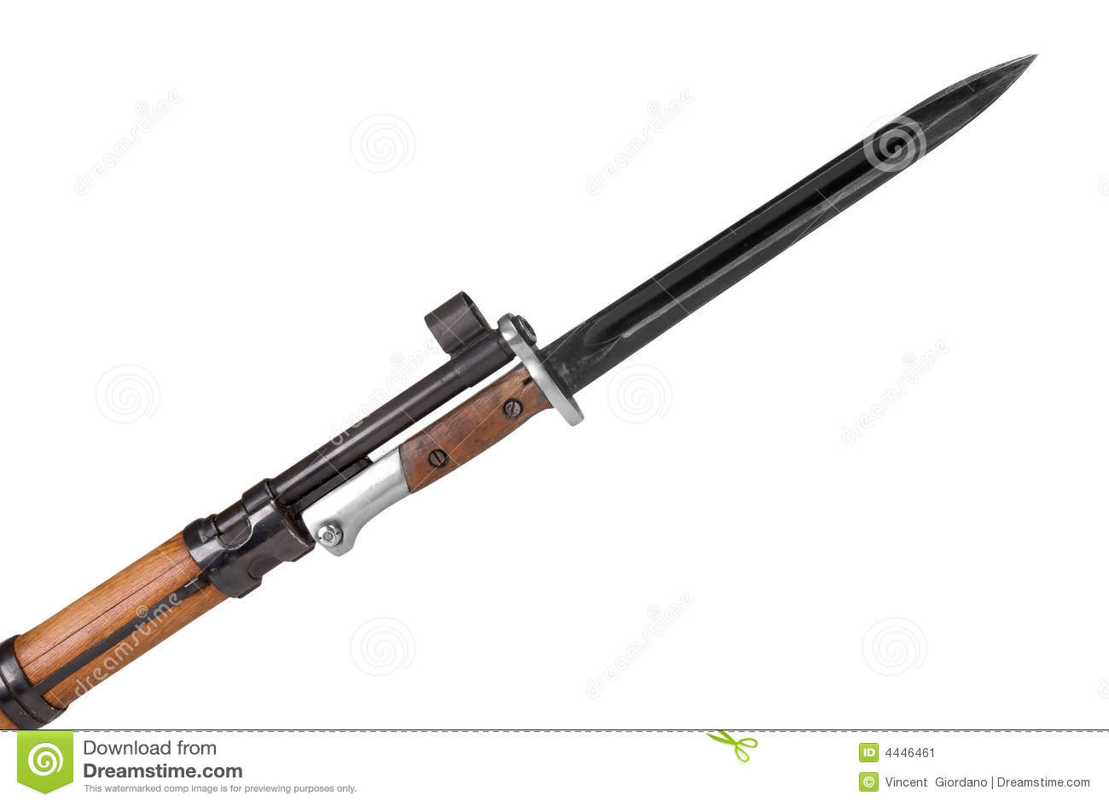 Military Rifle with bayonet