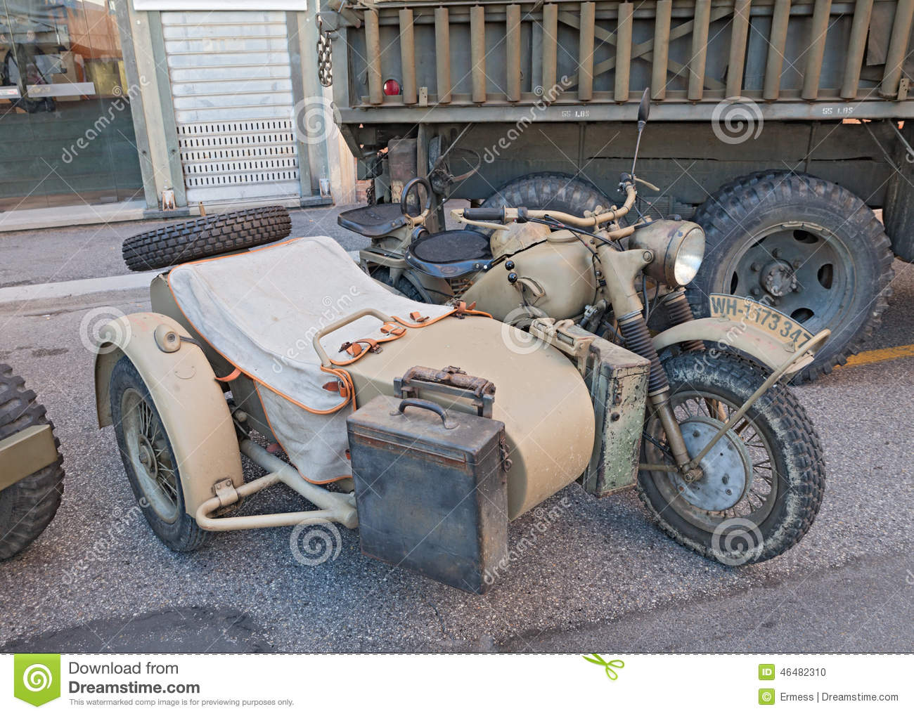 Military Sidecar Motorcycle Bmw R75 Editorial Image Image Of Rocco Revival 46482310