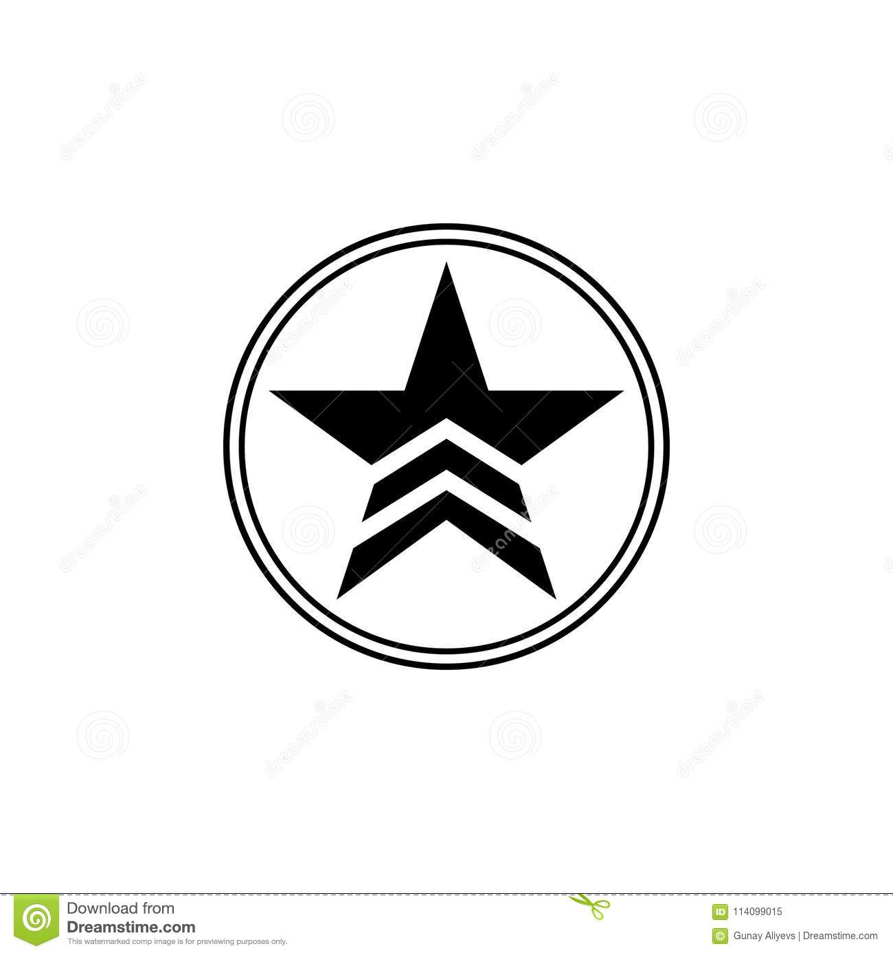 A Military Star In A Circle Icon Element Of Communism Illustration