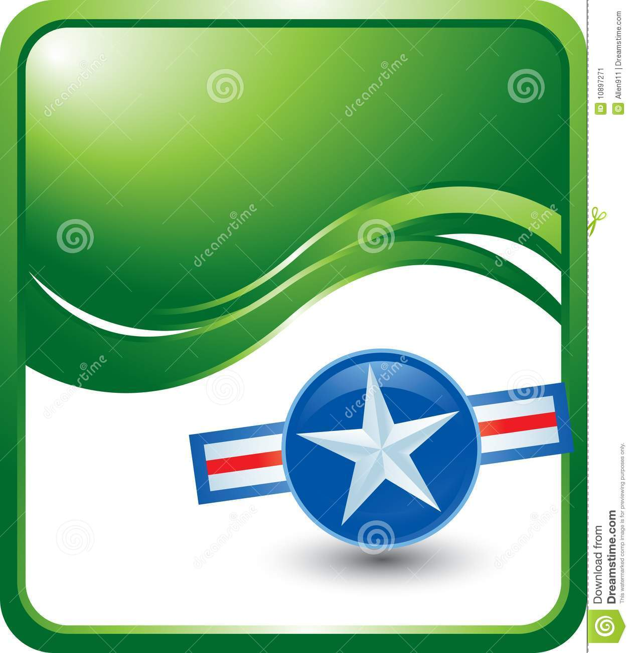 military style glossy green template stock vector illustration of