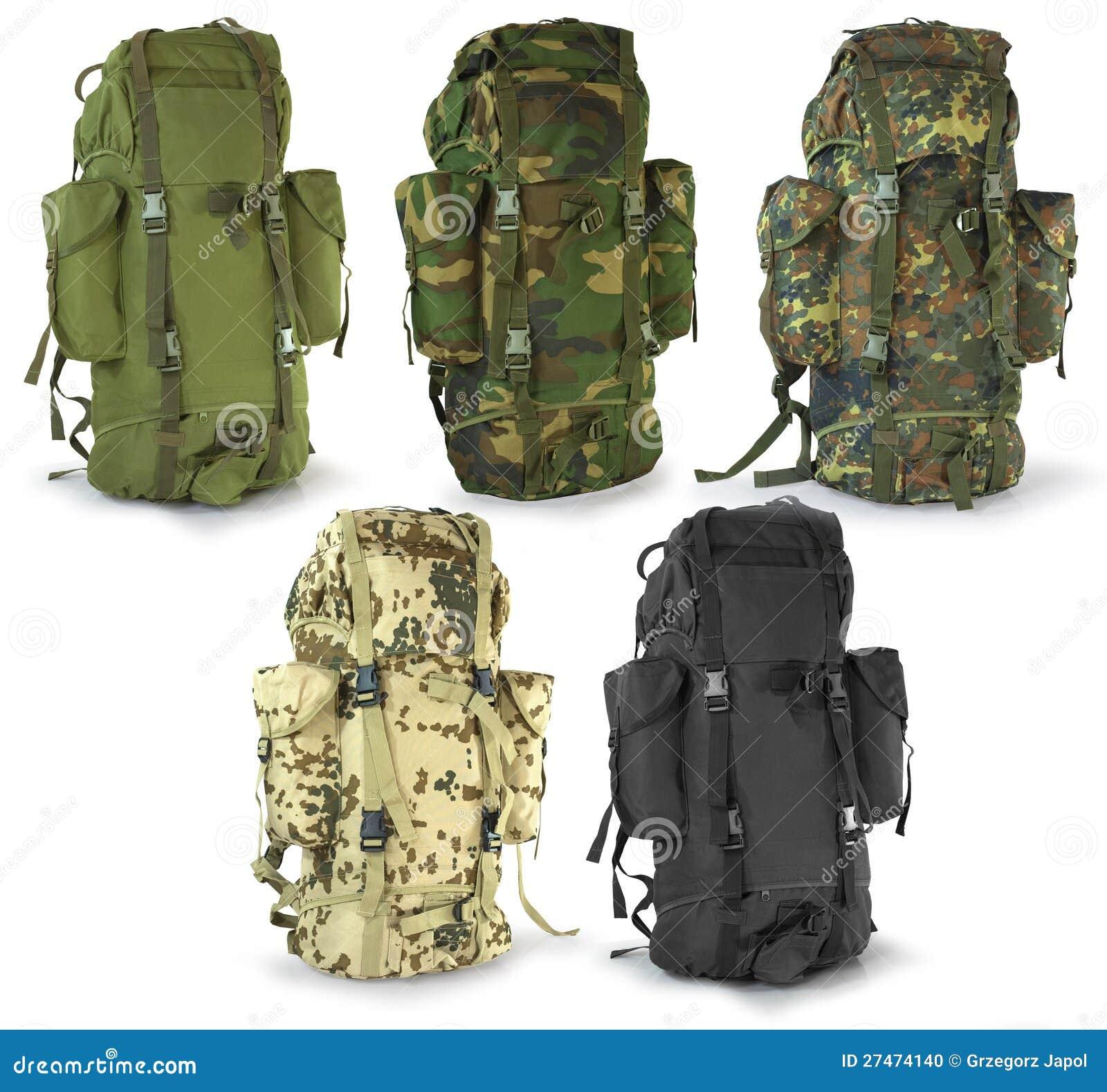 Military or survival hunters backpacks set