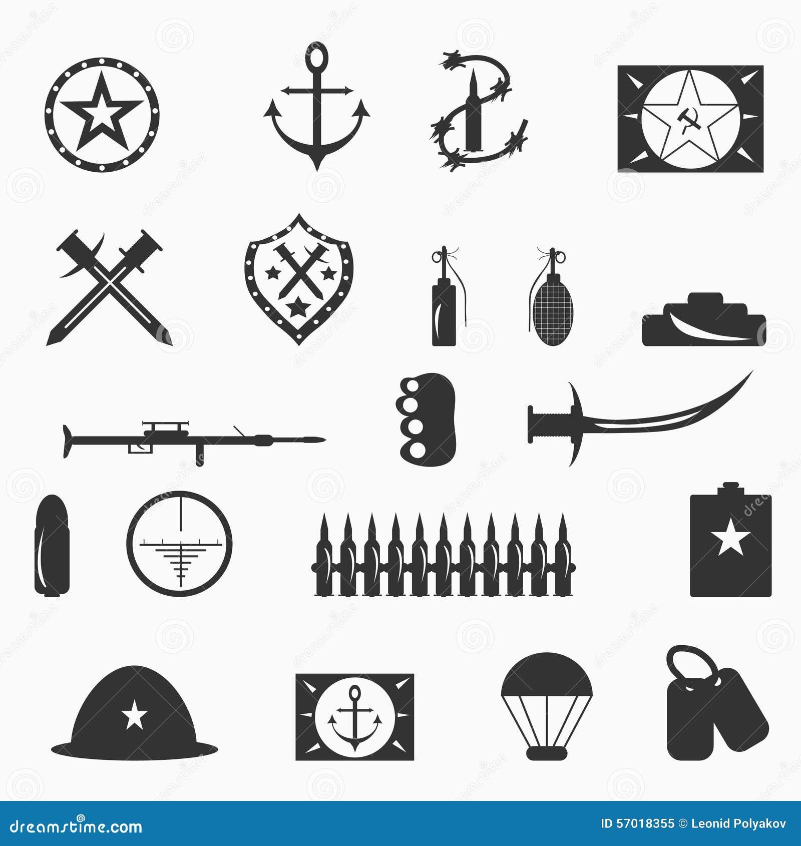 Military Symbols Vector Illustration Illustration 57018355 Megapixl