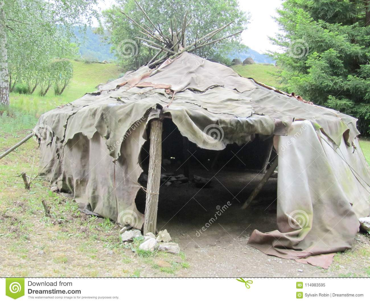 Military tent in army c& of ww2 us & Military Tent In Army Camp Of Ww2 Us Stock Image - Image of ...