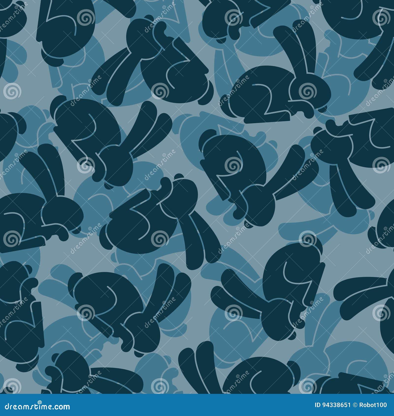 Military Texture Rabbit Army Bunny Seamless Texture
