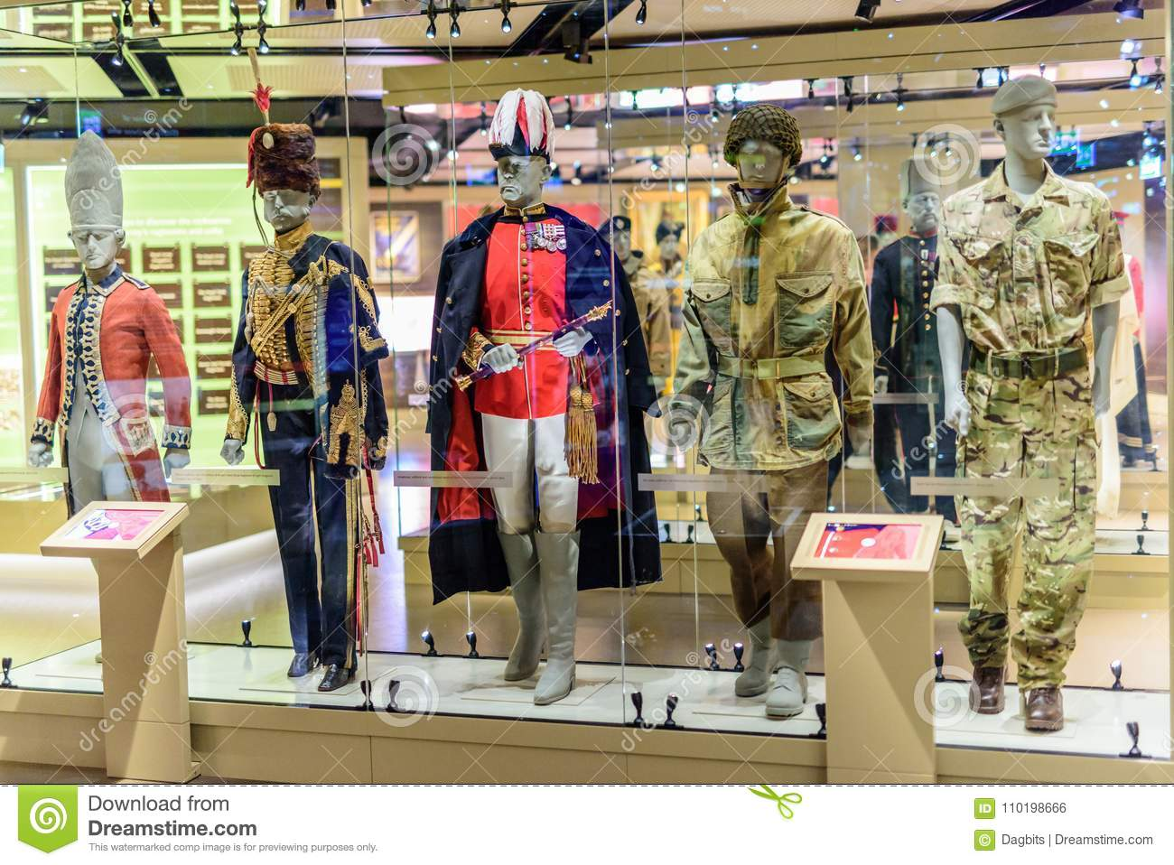 Military Uniform Display at National Army Museum London