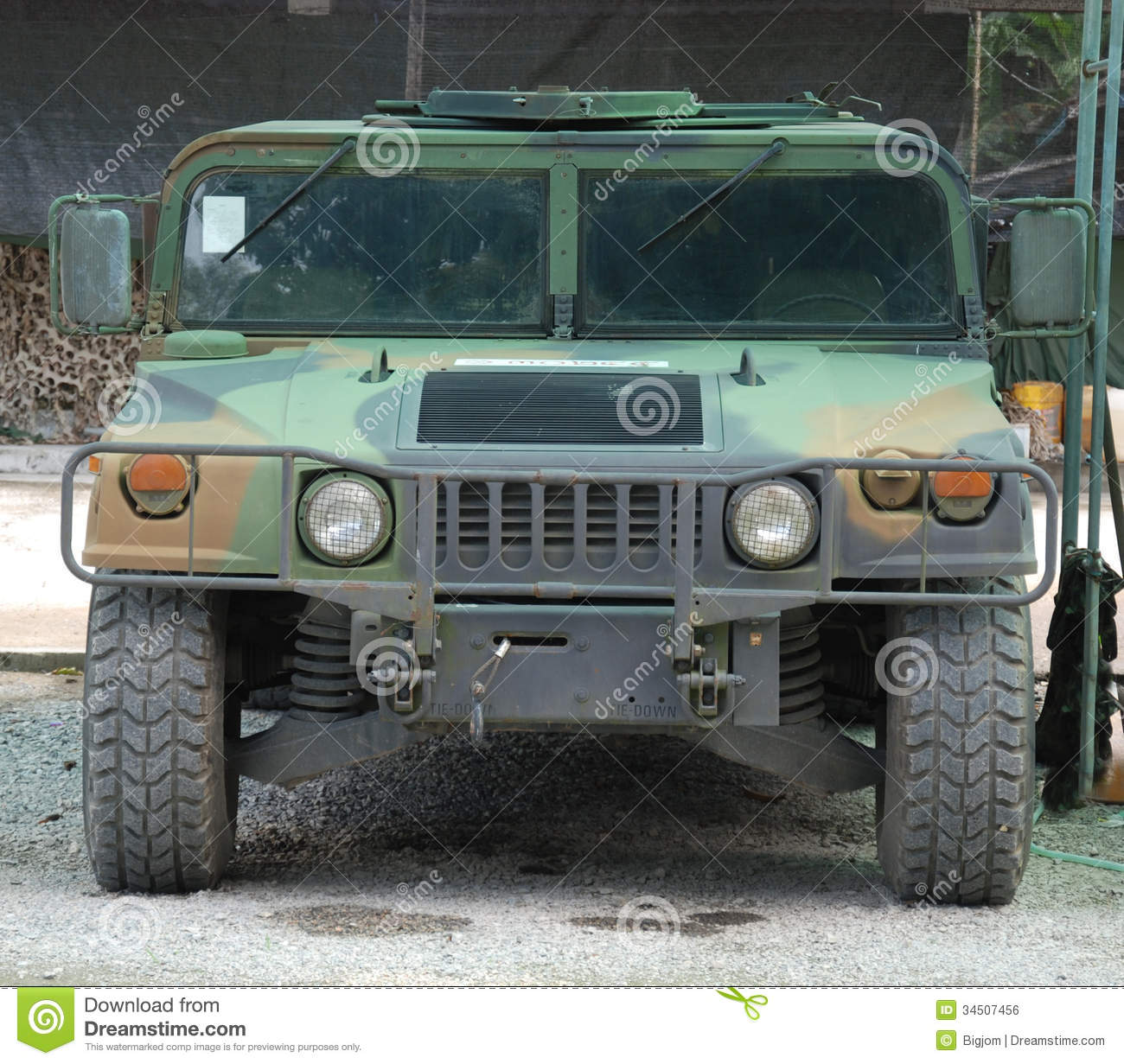 Green Jeep Wrangler >> Military Vehicle Hummer stock photo. Image of fighting - 34507456