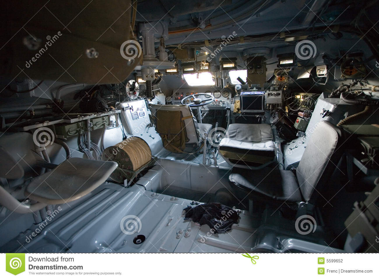 Military Vehicle Inside View Stock Photography