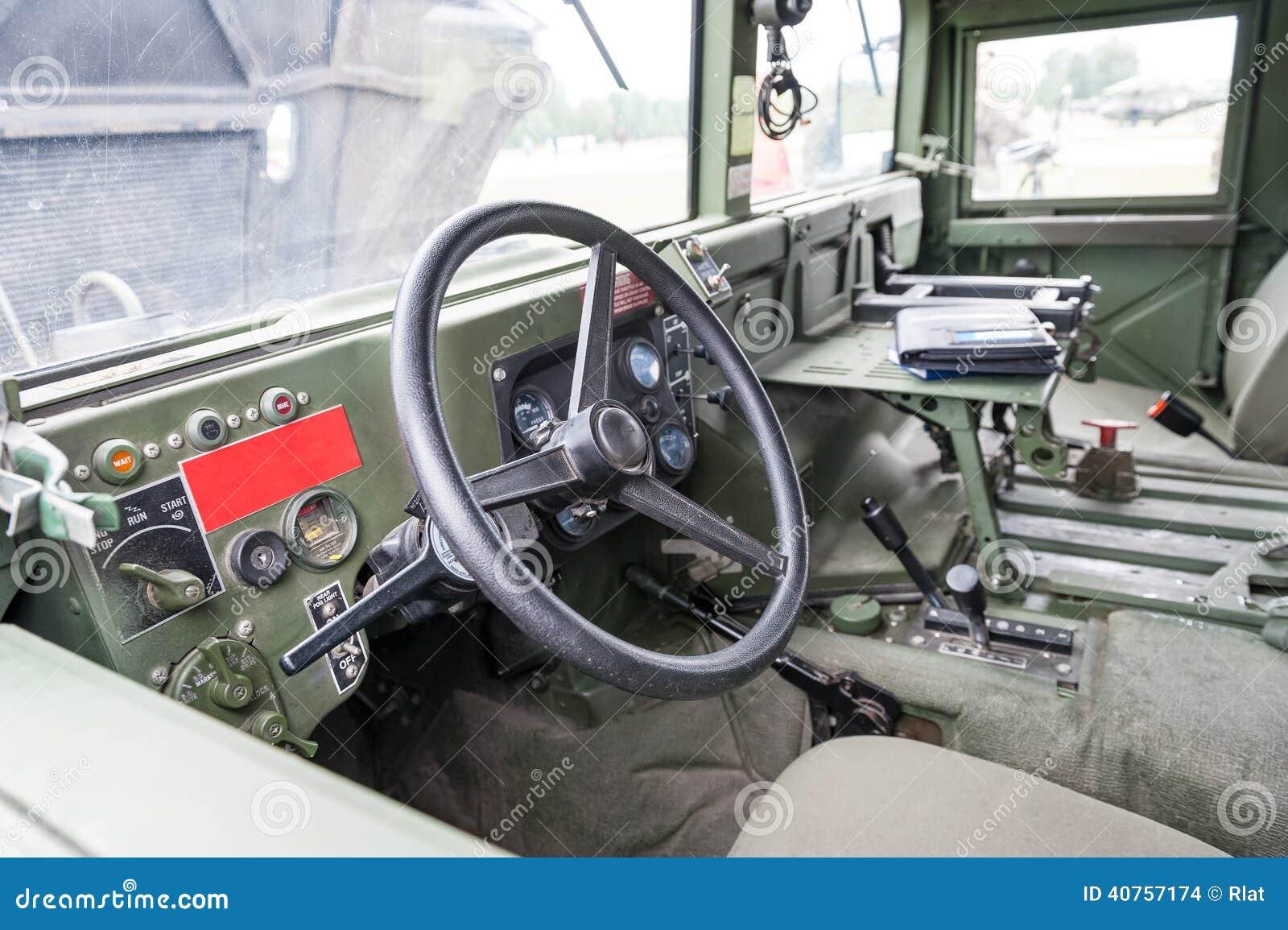 Military Vehicle Interior Stock Photo Image Of