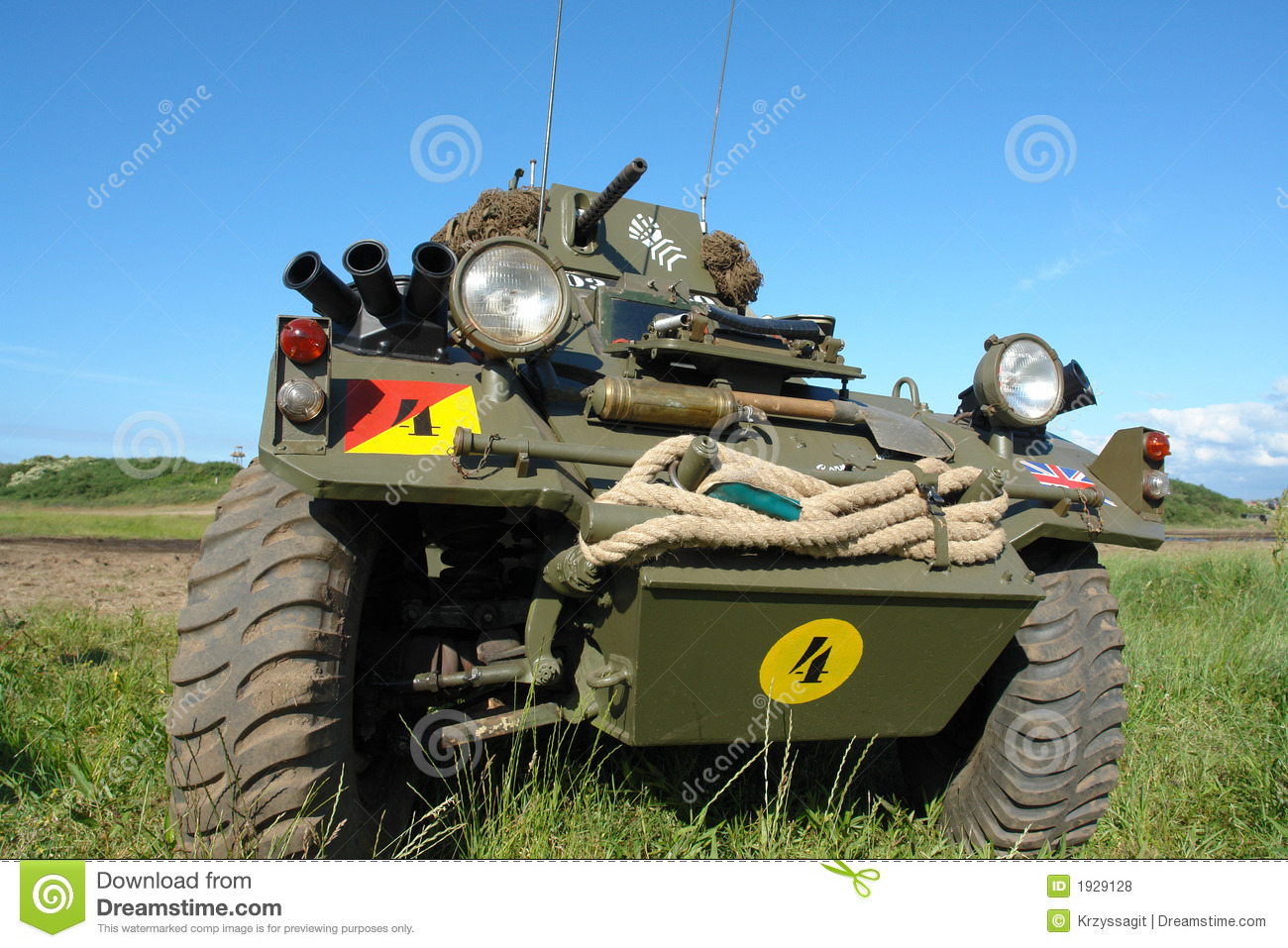 Military vehicle, old, WWII type.