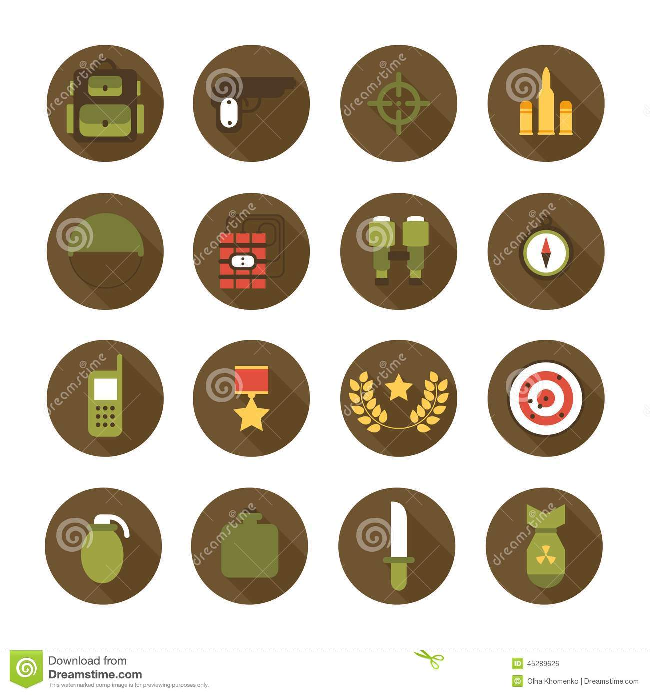 military and war icons set army infographic design WW2 Atomic Bomb Cartoon Money Clip Art