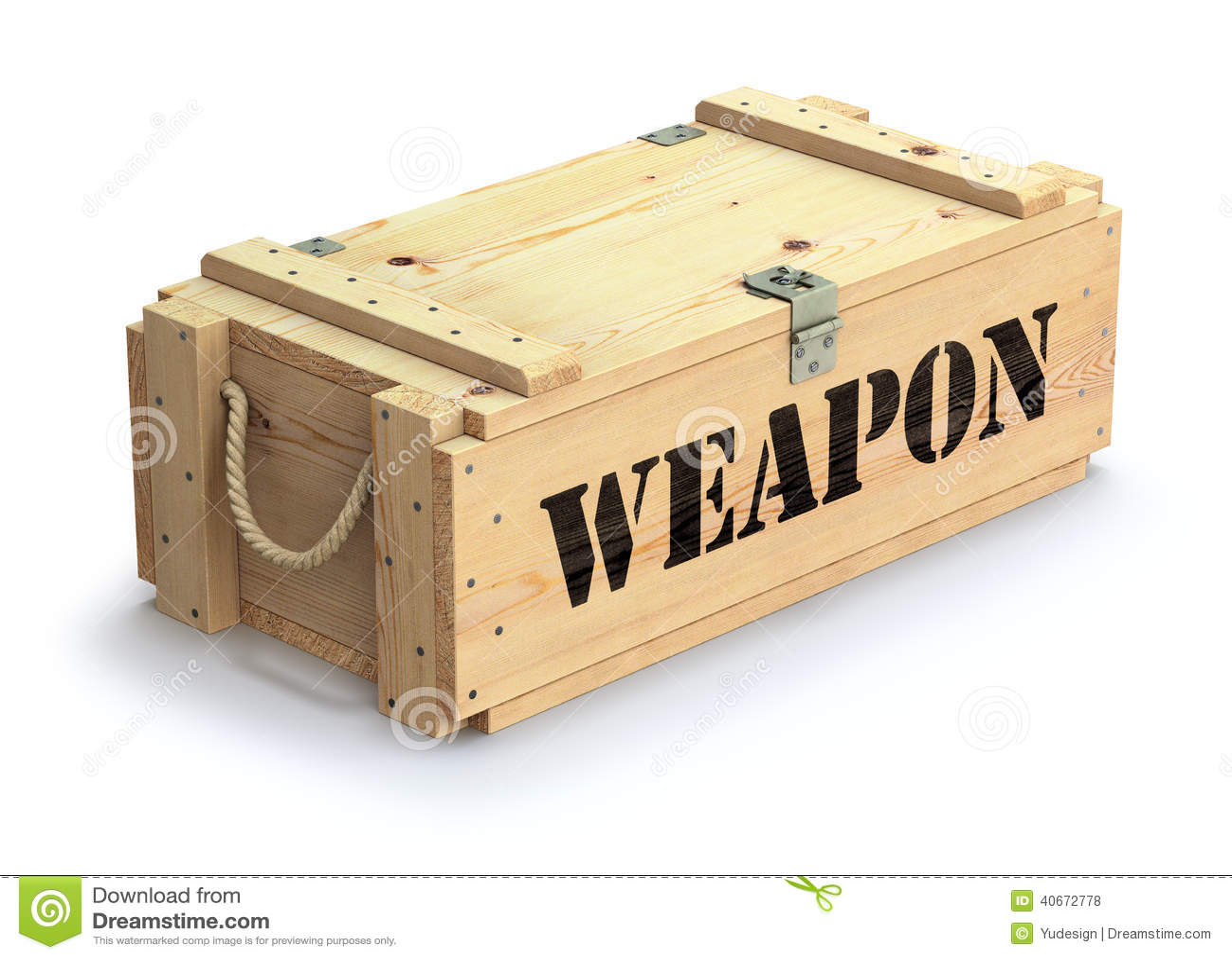 Оружейный ящик из дерева