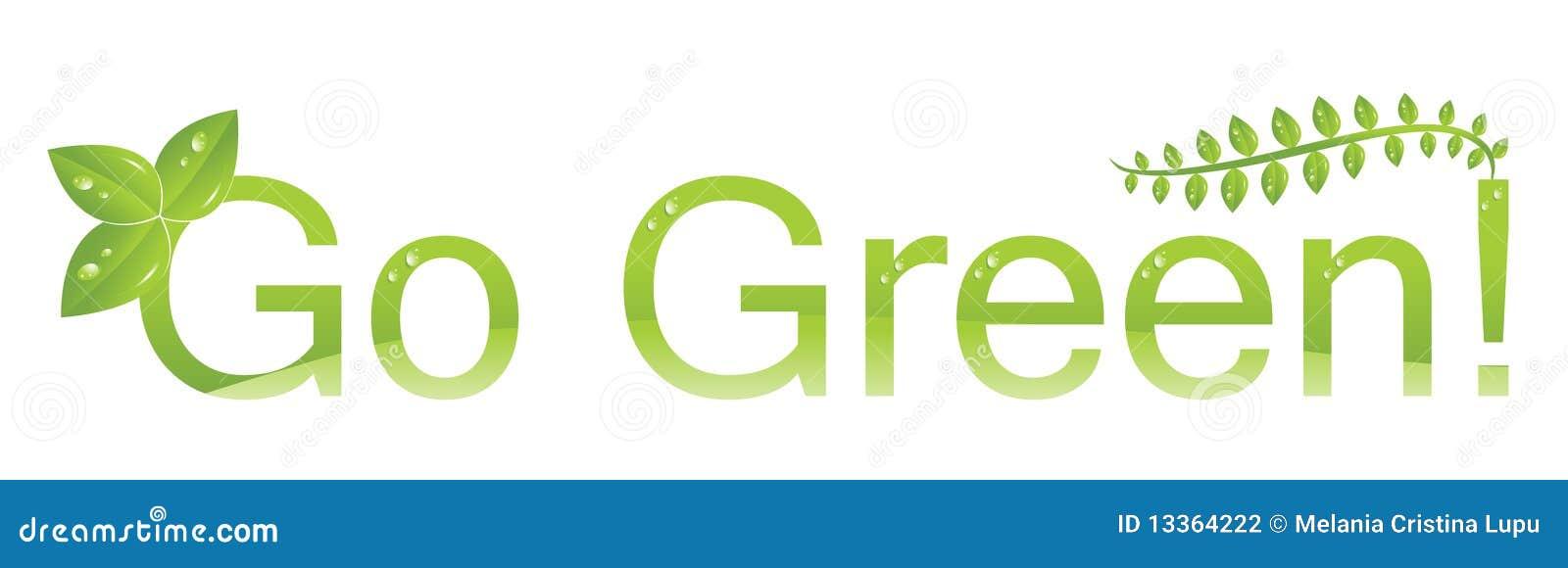 Miljön går den gröna logoen skyddar