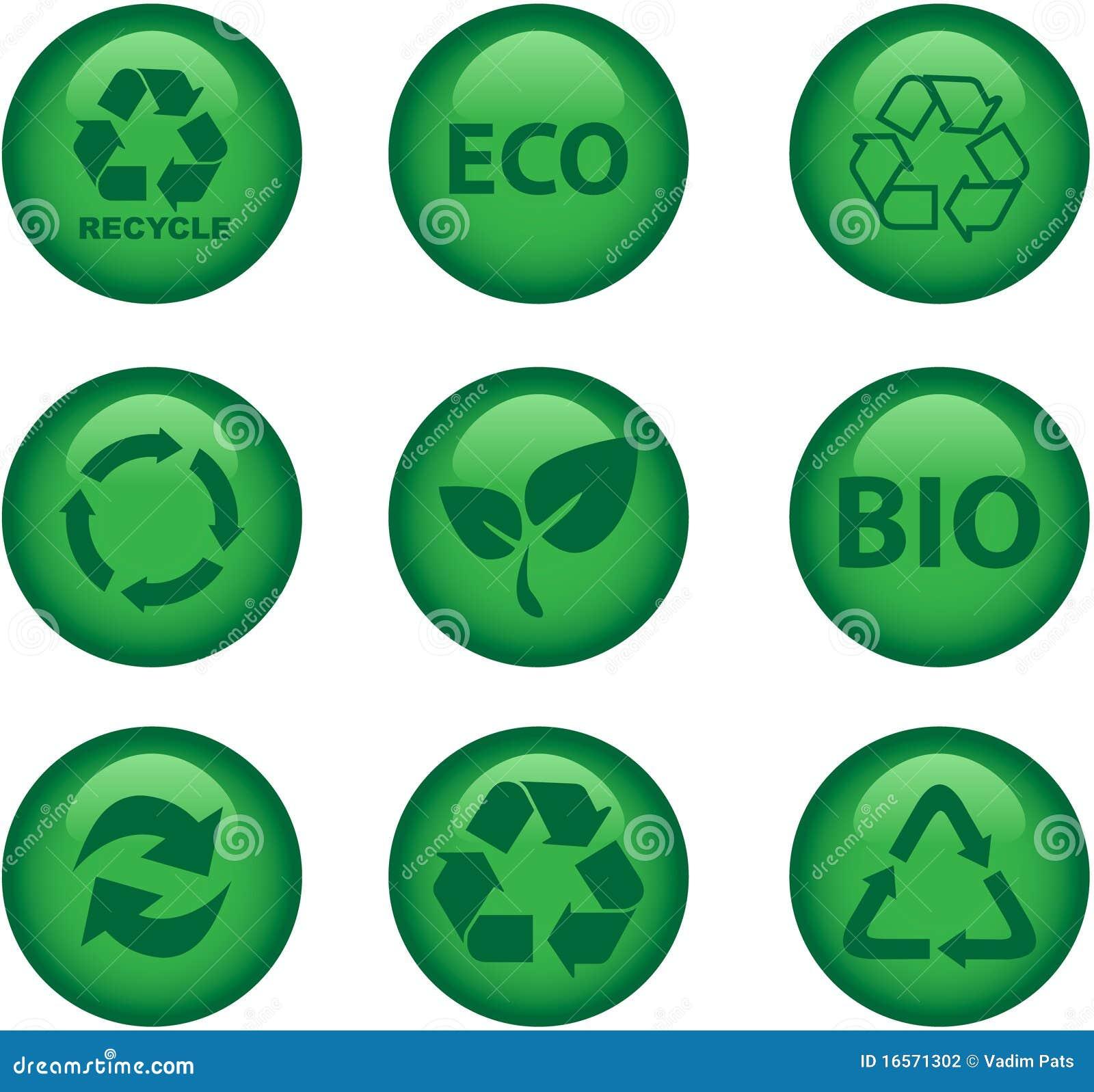 Miljösymboler återanvänder