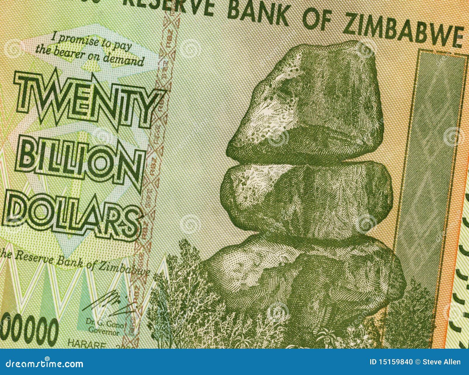 Miljarddollar tjugo zimbabwe