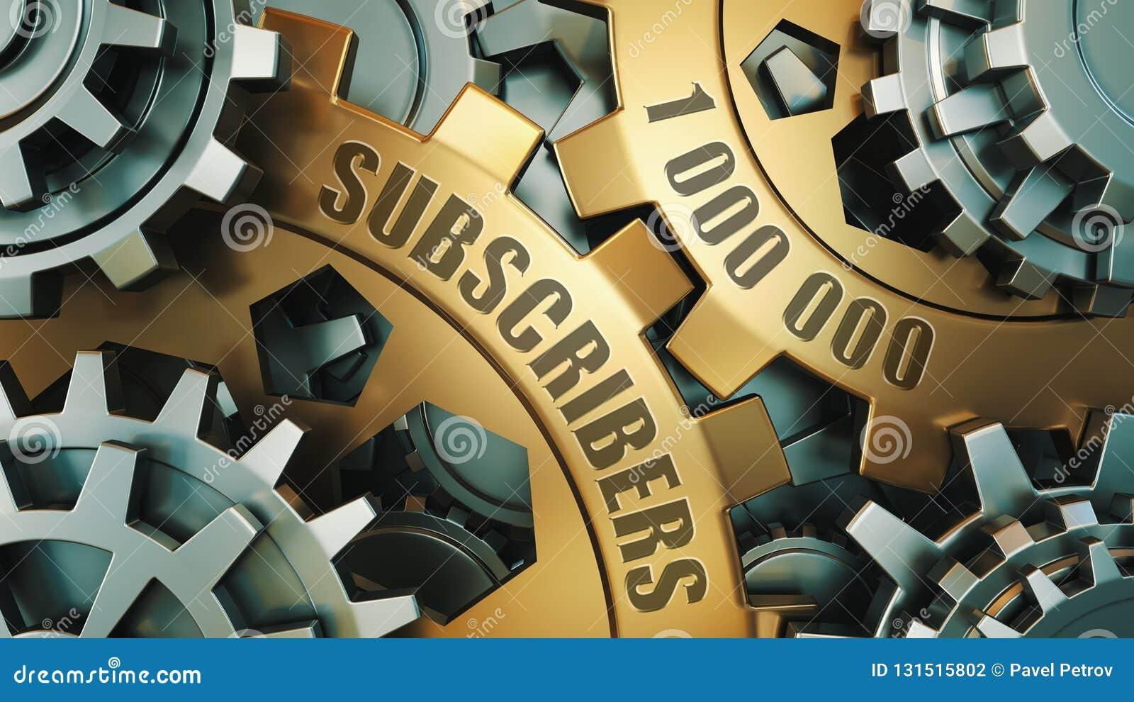 1 miljon anhängare eller abonnenter framförande 3d 1000000 sociala massmediavänner