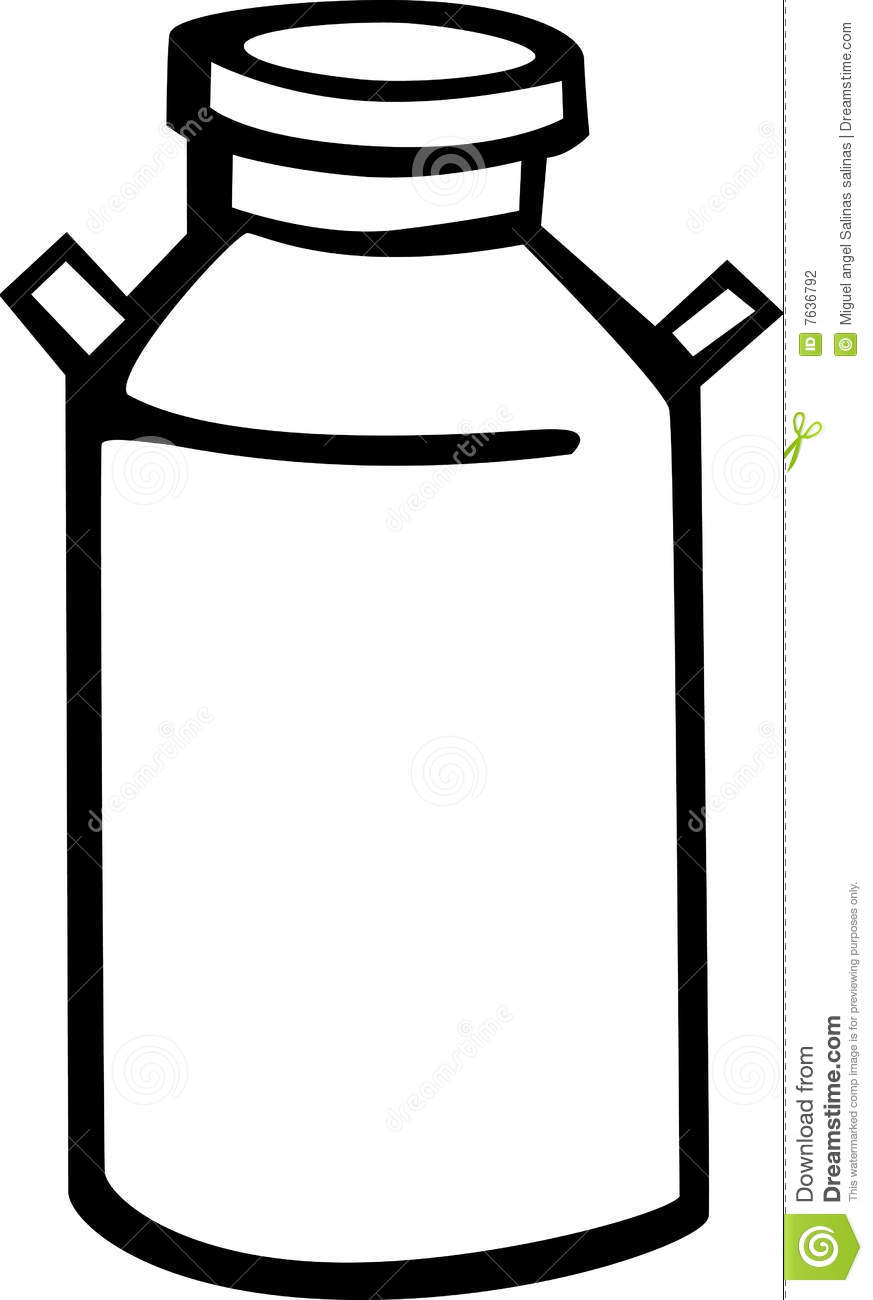 Milk Can Vector Illustration Stock Photography - Image: 7636792