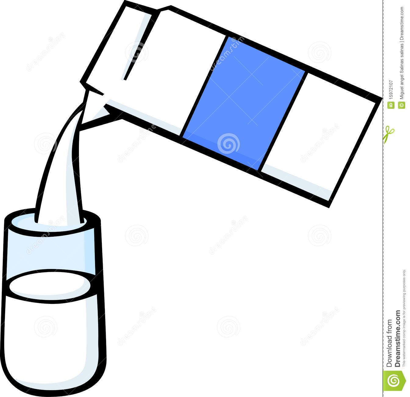 clipart of a glass of milk - photo #25
