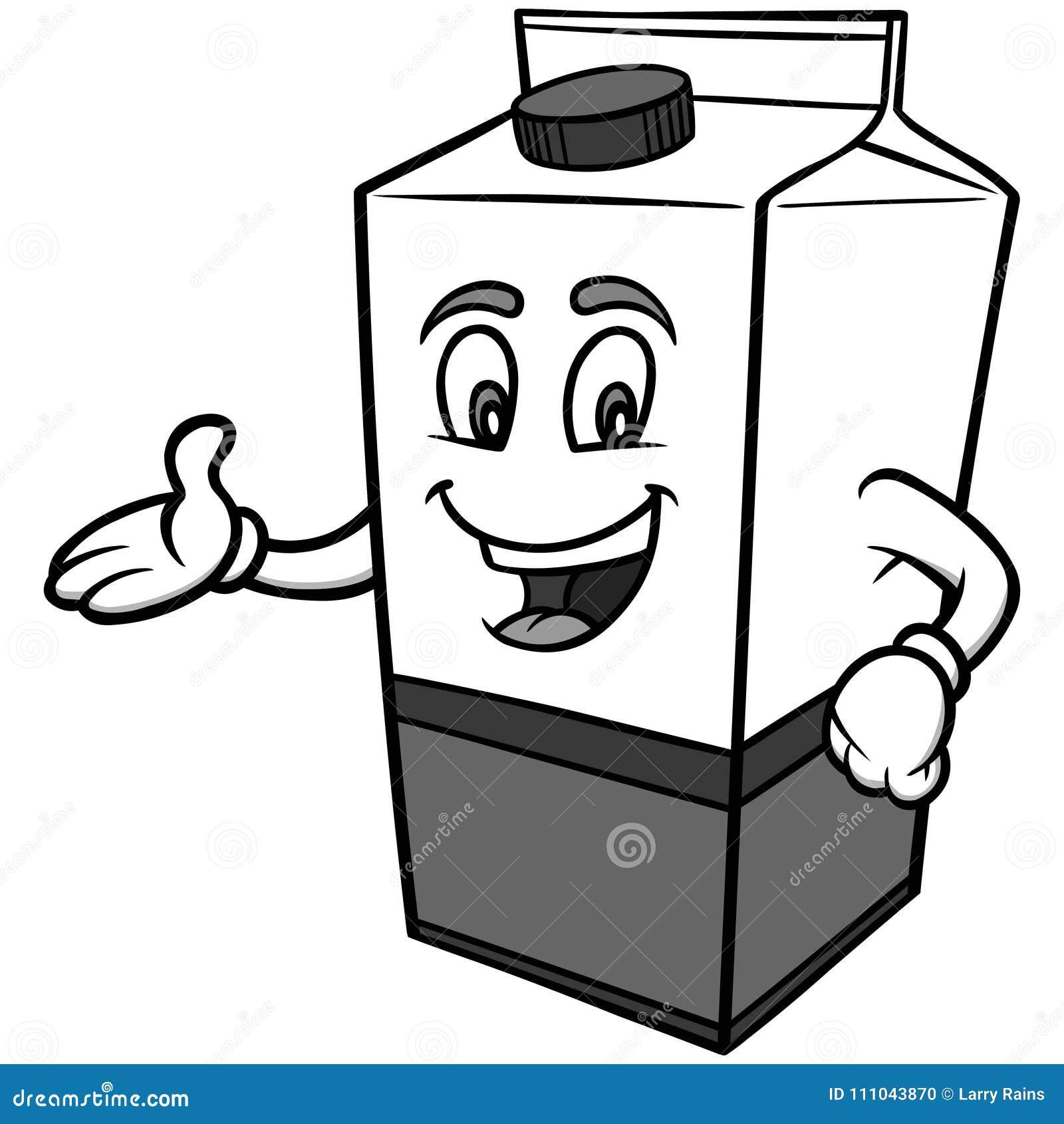 Milk Carton Illustration Stock Vector Illustration Of Message