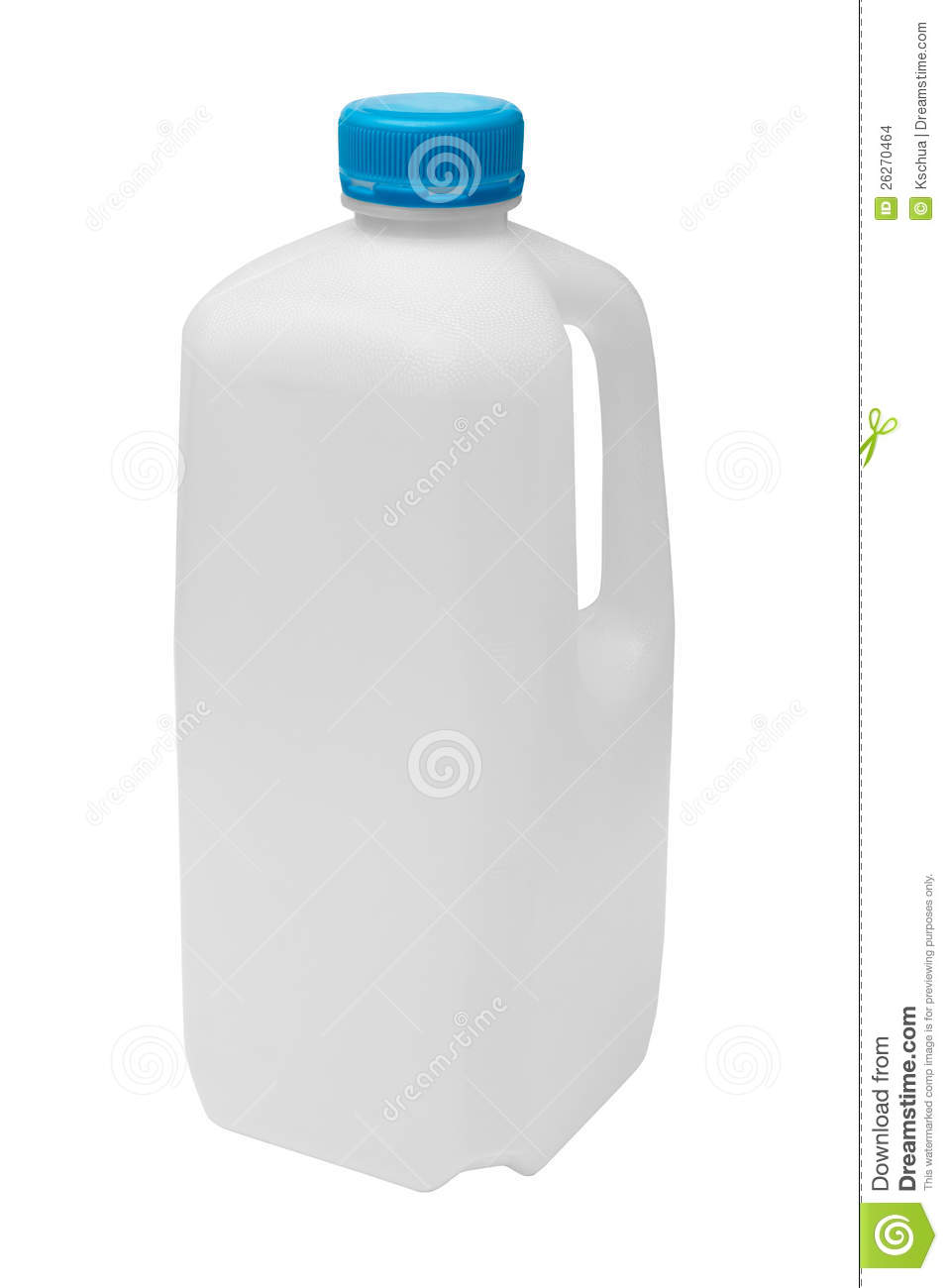 Milk carton for recycling stock photo. Image of empty ...