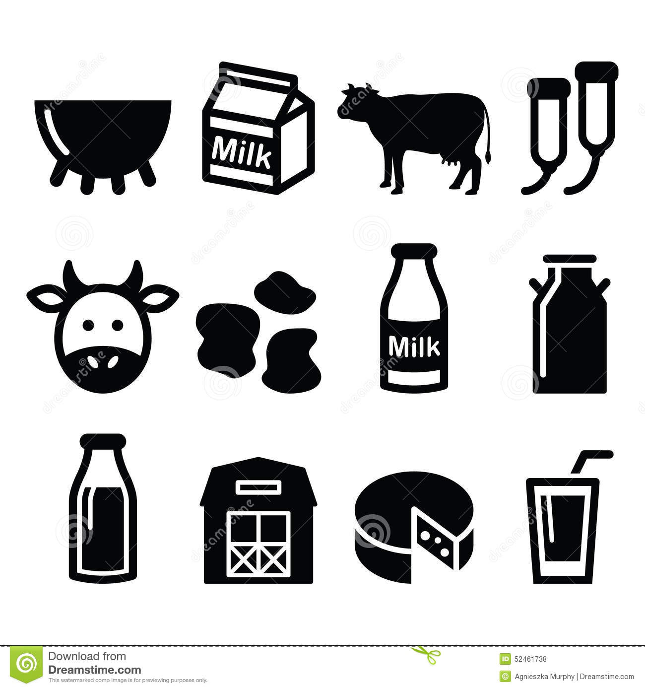 milk  cheese production  cow icons set stock illustration cow clipart black and white silhouette cow clip art black and white cartoon