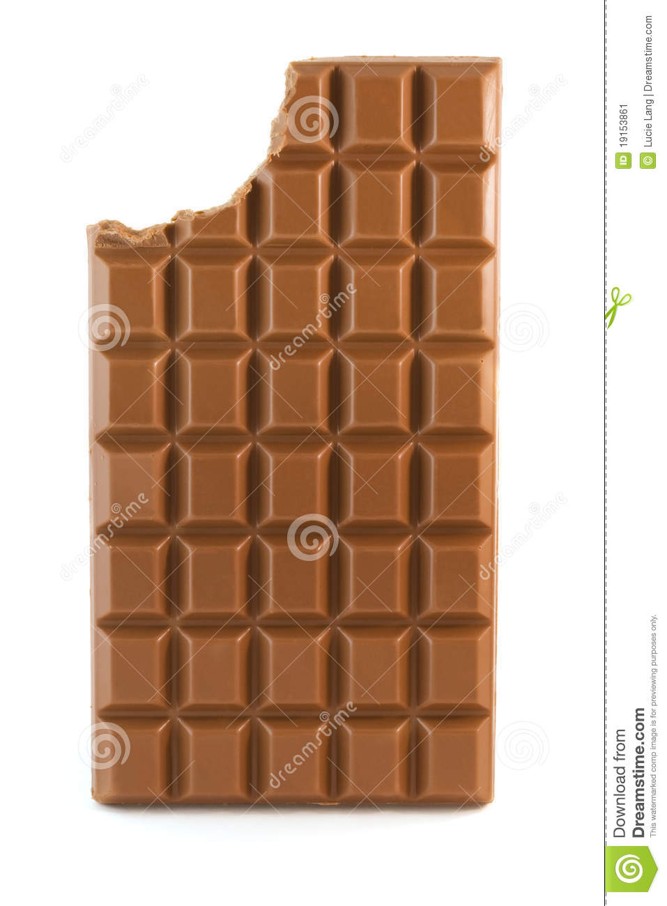 Milk Chocolate Bar With Missing Bite Stock Image Image