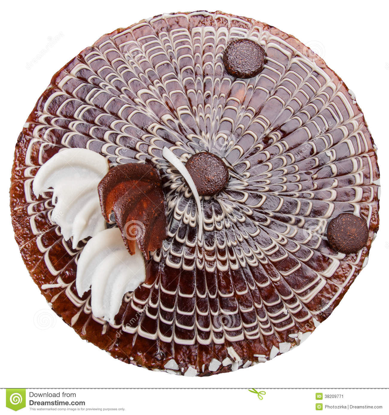 Cake Images Top View : Milk Chocolate Cake Top View Stock Image - Image: 38209771