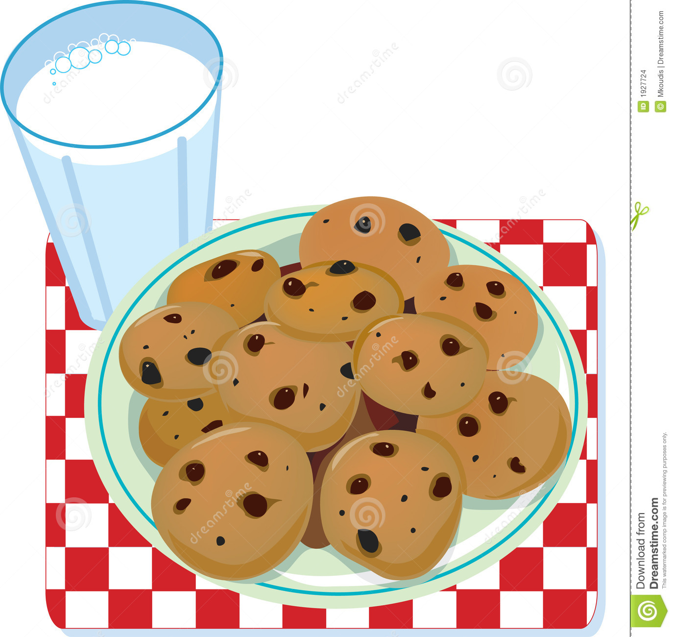Milk And Cookies Stock Images - Image: 1927724