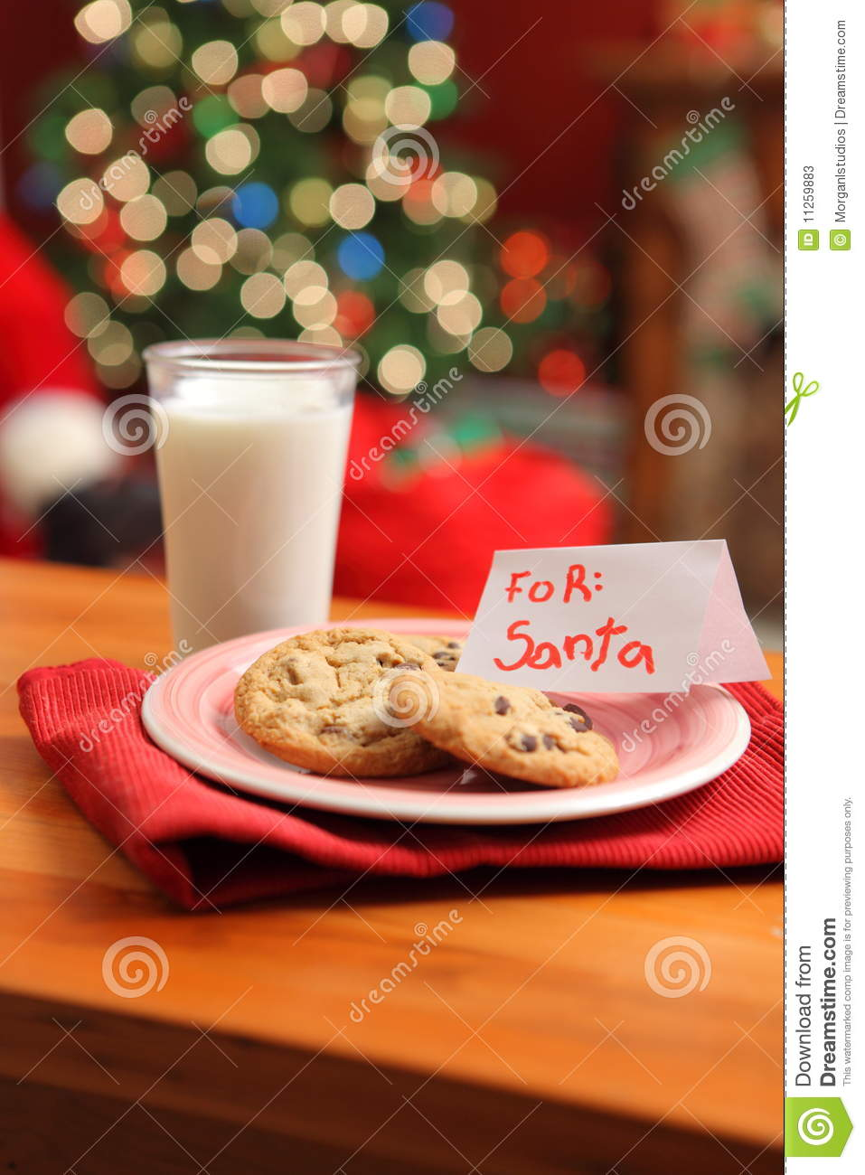 Milk And Cookies For Santa Stock Image Image Of Claus