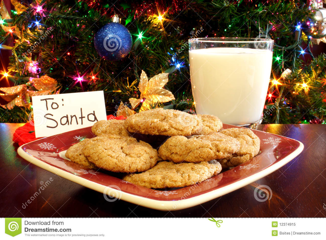 Image result for cookies and milk for santa
