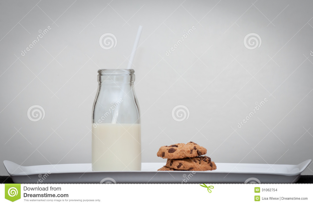 Milk And Cookies Vintage Style Stock Photo Image Of