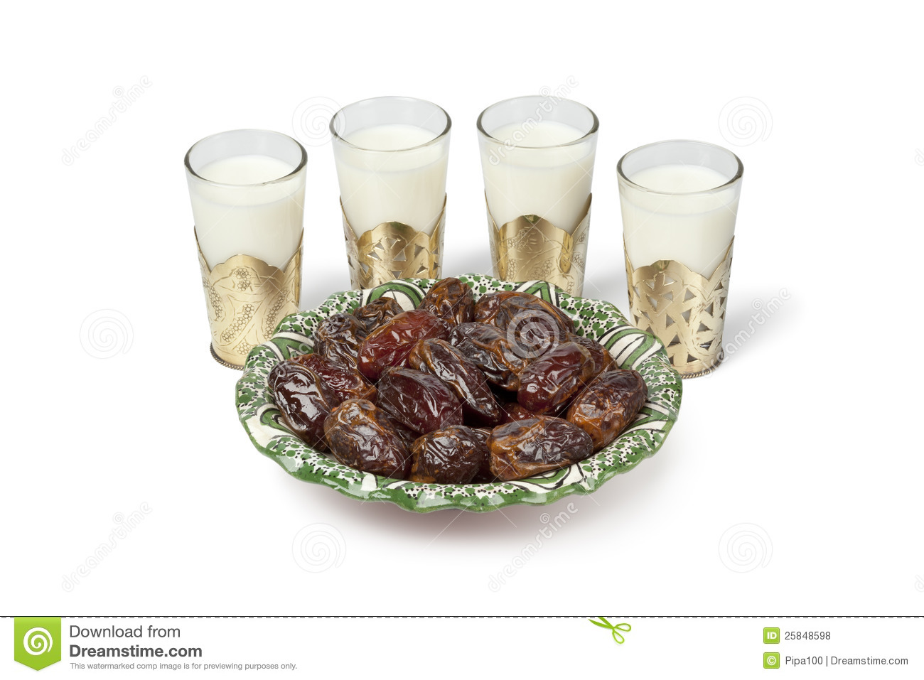 Milk And Dates For Iftar Meal Stock Photo - Image: 25848598