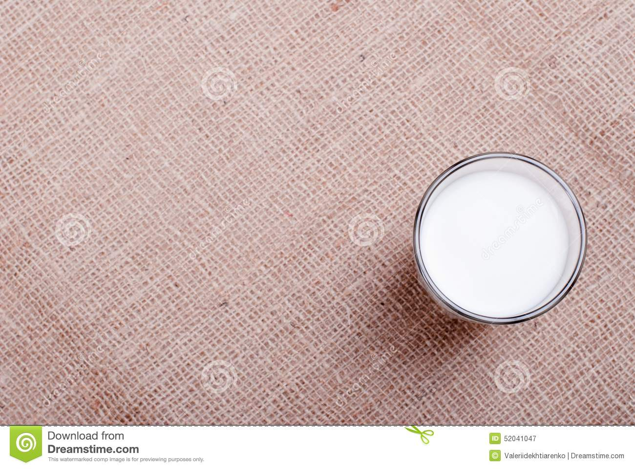 Milk In Glass Containers On A Table Top View Stock Photo ...