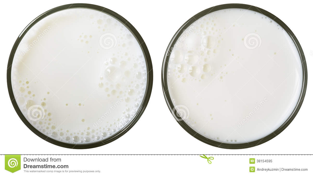 Milk Glass Top View Isolated Royalty Free Stock Photo - Image ...