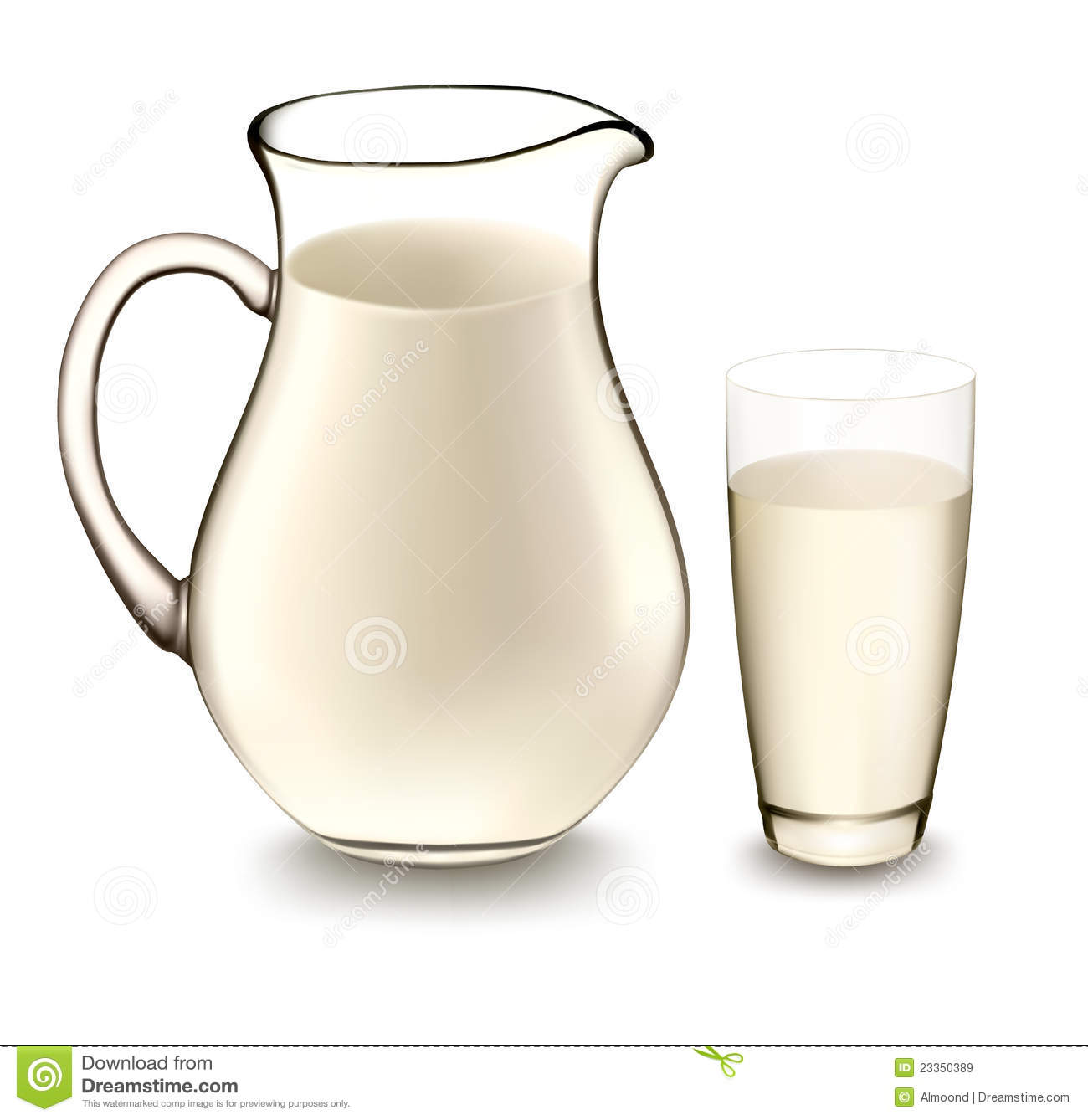 milk jug and glass of milk vector stock vector image. Black Bedroom Furniture Sets. Home Design Ideas
