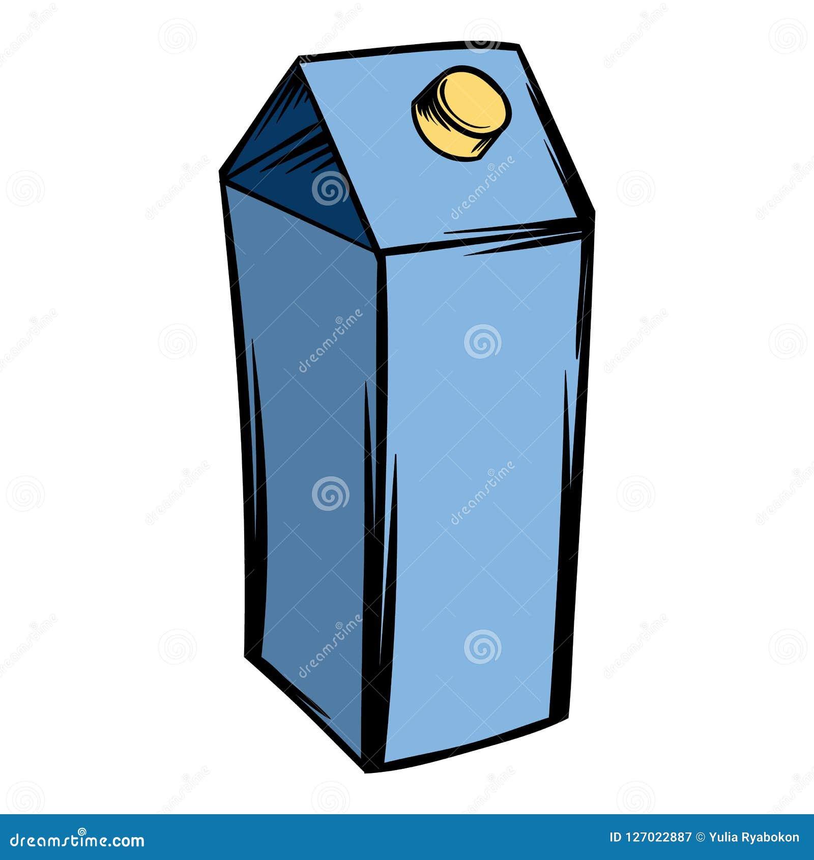 Milk Or Juice Carton Box Icon Cartoon Stock Illustration